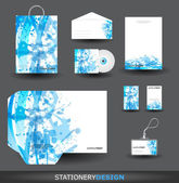 Blue Stationery design set — Stock Vector