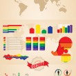 Vector de stock : Retro infographics set