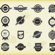 Vector set of retro labels, buttons and icons. — Stock vektor
