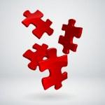 Vector 3d puzzles — Stock Vector #11257056