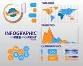 Hochwertige minimalistische Business Infographik element — Stockvektor