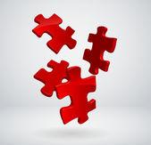 Vector 3d puzzles — Stock Vector