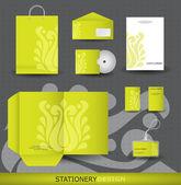 Stationery design set in vector format — Stock Vector