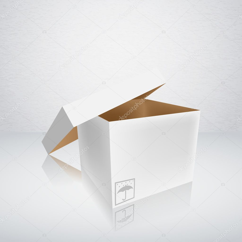 Open packing box vector illustration — Stock Vector #12253753