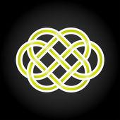 Yeşil sonsuz düğüm kavramı düzenlenebilir vektör formatında — Stok Vektör