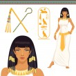 Illustrations with ancient Egypt theme - Stock Vector