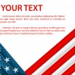 Background with American flag in plastic style — Vetor de Stock  #10884185