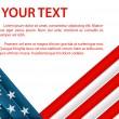 pozadí s americkou vlajkou v plastových stylu — Stock vektor