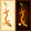 Royalty-Free Stock Vector Image: Vertical banners with illustration of beautiful chinese dragon