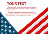 有美国国旗的塑料风格背景 — 图库矢量图片