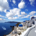 Famous Santorini island in Greece — Stock Photo #10746840