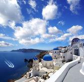 Famous Santorini island in Greece — Stock Photo