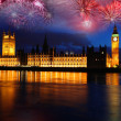 Big Ben with firework in London, England — Stock Photo #10799677