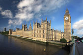 Big Ben with bridge, London, UK — Stock Photo