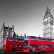 Big Ben with red double-decker in London, UK — Stock Photo #10801765