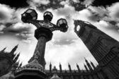 ロンドン、イギリスで劇的なビッグ ・ ベン — ストック写真