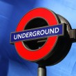 Underground logo in London, UK - Stock Photo