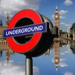 Underground logo in London, UK — Stock Photo #10925223