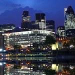 Modern London cityscape , LONDON, UK — Stock Photo #10925535