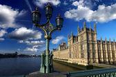 Big Ben with bridge lamp in London, UK — Stock Photo