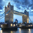 Famous Tower Bridge, London, UK — 图库照片