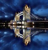Tower Bridge in the beautiful evening, London, UK — Stock Photo