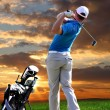 Man playing golf — Stock Photo #11087068