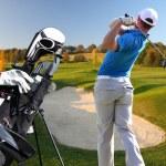 man spela golf — Stockfoto #11089066