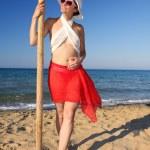 Sexy Woman on the beach — Stock Photo #11108757