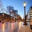 Paris Champs Elysee street in the evening — Stock Photo #11156898