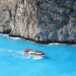 Motor boat missing Zakynthos Island in Greece — Stock Photo
