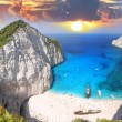 Stock Photo: Amazing beach Navagio in Zakynthos, Greece
