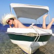 Sexy Womon boat — Stock Photo #11170922