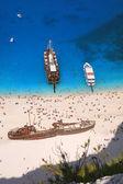 ザキントス島、ギリシャの難破船と nagio ビーチ — ストック写真