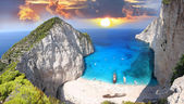 Amazing beach Navagio in Zakynthos, Greece — Stock Photo