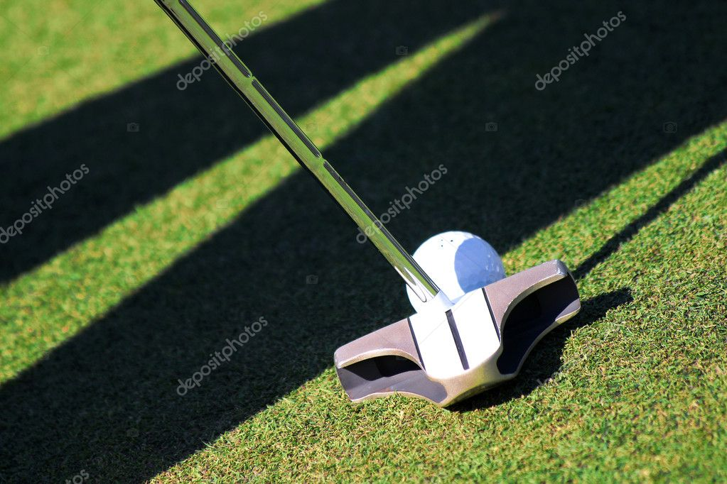 Golf ball and club — Stockfoto #11171108