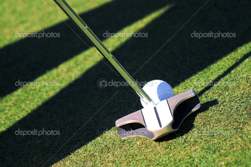 Golf ball and club  Foto Stock #11171108