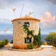 Traditional Wind Mill in Greece — Stock Photo