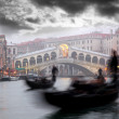 Royalty-Free Stock Photo: Rialto bridge with gondola in Italy