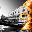 Stock Photo: Mask in Venice, Italy