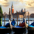 Gondolas in the evening, — Stock Photo