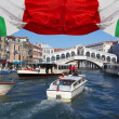 Stock Photo: Venice with Grand canal and Rialto Bridge in Italy