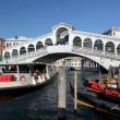 Venice with Grand canal and Rialto Bridge in Italy — Stock Photo
