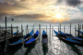 Gondolas in Italy — Stockfoto