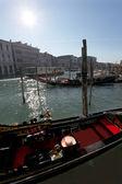 Detail of Gondolas in Venice — Stock Photo