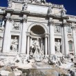 Rome with Fontana di Trevi in Italy - Stock Photo