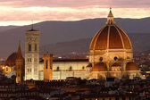 Florence cathedral at evening, Tuscany, Italy — Stock Photo
