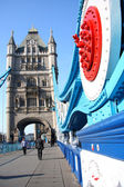 Famous Tower Bridge in London, England — Stok fotoğraf
