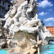 Piazza Navona, Fountain from Bernini in Rome, Italy — Stock Photo