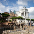 Rome,Vittorio Emanuele, Piazza Venezia — Stock Photo